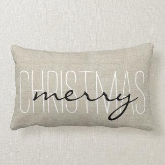 Almohada rústica del día de fiesta de las Felices