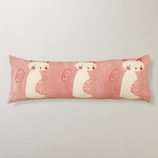 Almohada rústica hermosa del gato del país