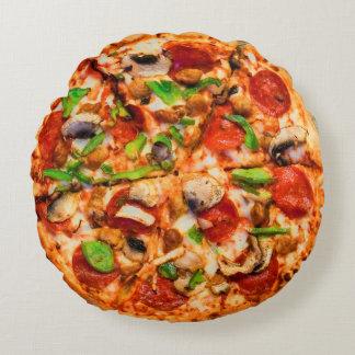 Almohada sabrosa de la pizza cojín redondo