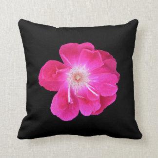 Almohada, solo flor color de rosa rosado cojín decorativo