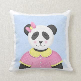 Almohada soñolienta de la panda para las niñas