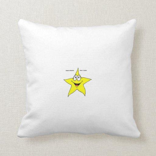 Almohada sonriente de la estrella cojín decorativo