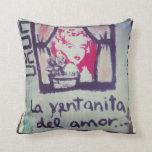 Almohada street art la ventanita del amor cojín decorativo