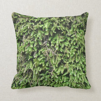 Almohada suave de la impresión del musgo