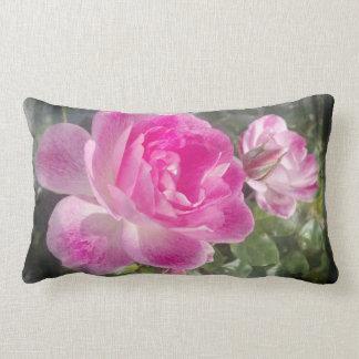 Almohada subió jardín rosado ornamental
