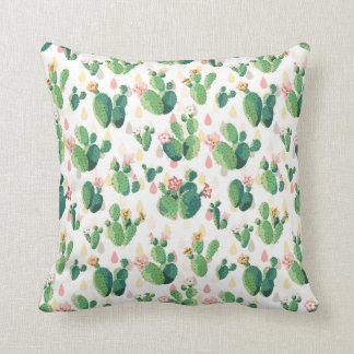 Almohada temática del jardín peculiar del cactus