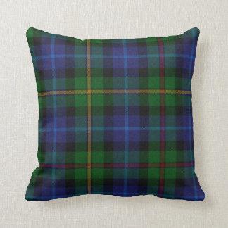 Almohada tradicional de la tela escocesa de tartán