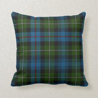 Almohada tradicional de la tela escocesa de tartán cojín decorativo