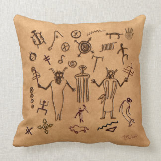 Almohada tribal de la meditación del arte de la ro