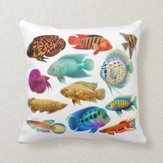Almohada tropical de agua dulce de los pescados de