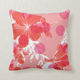 Almohada tropical de la flor del hibisco exótico