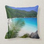 Almohada tropical de la playa del paraíso