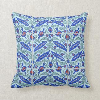 Almohada turca de MoJo del americano de las azules