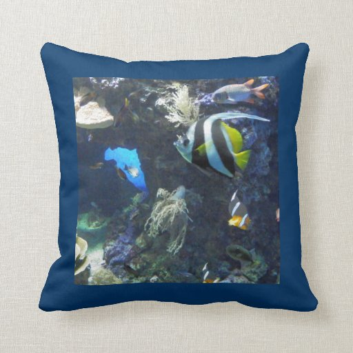 "Almohada ""Under Sea the"" peces"