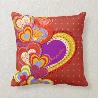Almohada única del corazón del amor del el día de