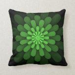 Almohada verde abstracta