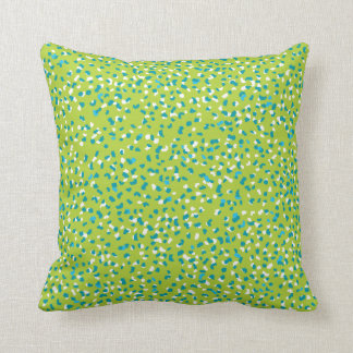 Almohada verde clara del leopardo de Ditsy