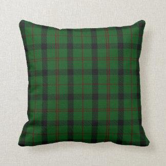 Almohada verde de la tela escocesa de tartán de
