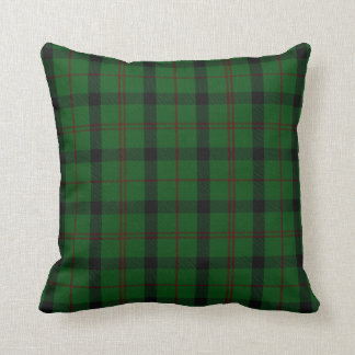 Almohada verde de la tela escocesa de tartán de Ki