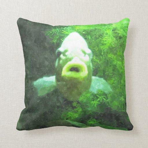 Almohada verde de los pescados
