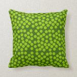 Almohada verde de los puntos, amortiguador