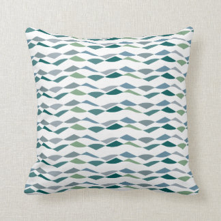 Almohada verde del diseñador del modelo de flujo d