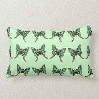 Almohada verde del Lumbar de las polillas de la