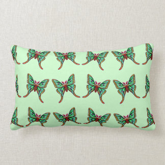 Almohada verde del Lumbar de las polillas de la lu