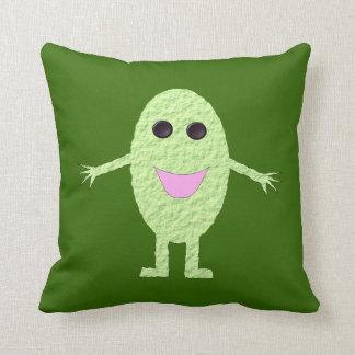 Almohada verde feliz de la uva