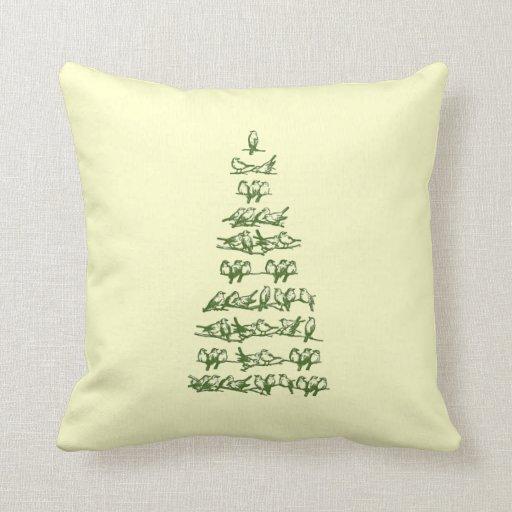 Almohada versátil del árbol del pájaro del navidad