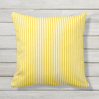 Almohadas al aire libre amarillas de la sol - raya cojín decorativo