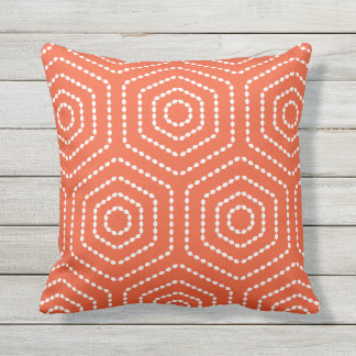 Almohadas al aire libre del modelo geométrico