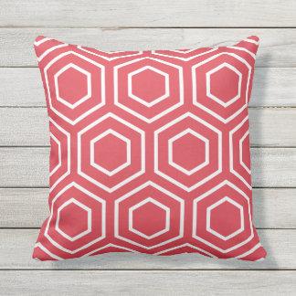 Almohadas al aire libre del modelo geométrico rojo cojín de exterior