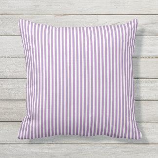 Almohadas al aire libre púrpuras - raya de Oxford Cojín Decorativo