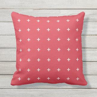 Almohadas al aire libre rojas de la amapola - cojín de exterior