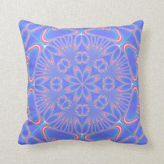 Almohadas anaranjadas azules de MoJo del americano