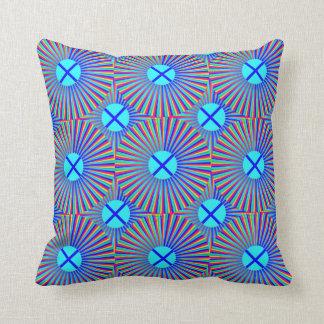 Almohadas azules de los puntos