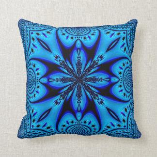 Almohadas azules de MoJo del americano del fractal