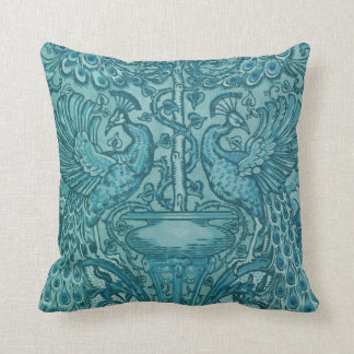 Almohadas azules de MoJo del americano del pavo Cojín Decorativo