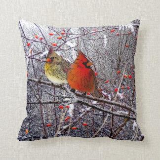 Almohadas cardinales del navidad cojín decorativo