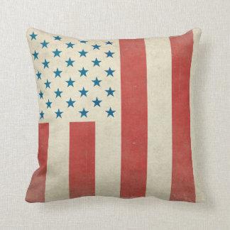 Almohadas civiles americanas de la bandera del vin