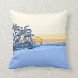 Almohadas cuadradas reversibles hawaianas de la