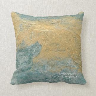 Almohadas de cobre de la turquesa