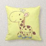 Almohadas de encargo animales del bebé del dibujo