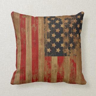 Almohadas de la bandera americana del vintage