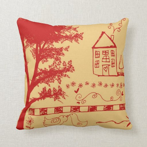 Almohadas de la casa del Doodle de la granja