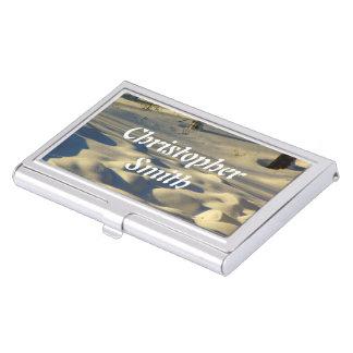 Almohadas de la nieve cajas de tarjetas de presentación