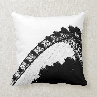 Almohadas de la silueta del ojo de Londres