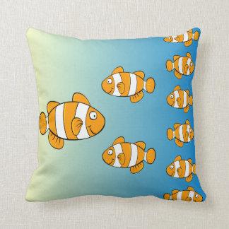 Almohadas de los pescados del payaso