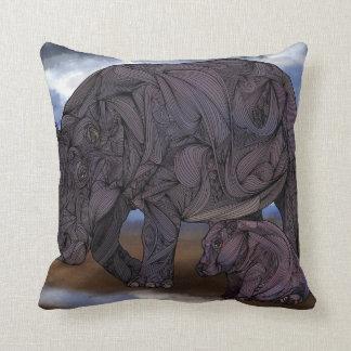 Almohadas de MoJo del americano de los hipopótamos